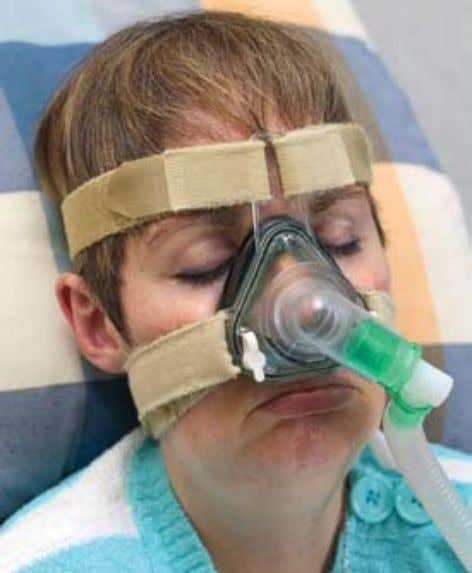 that props open your airway during sleep or having surgery. A SPECIAL DEVICE HELPS PEOPLE WITH