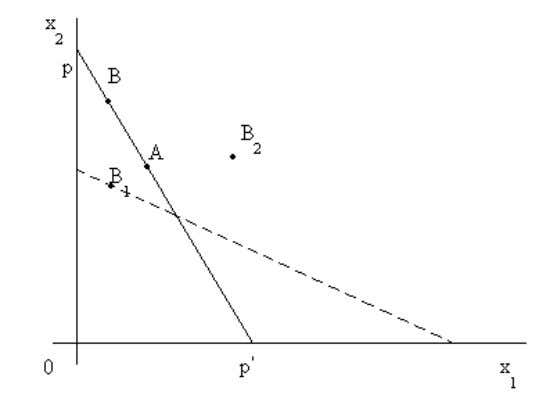 Fig. 2. 1: Concept of Revealed Preference Theory of Demand: An Alternative Approach Therefore, because