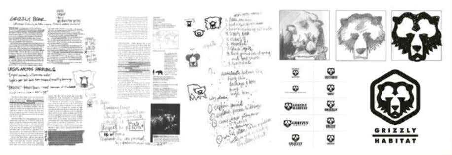 "Processsketchesfor""GrizzlyHabitat""pictographproject.1998."