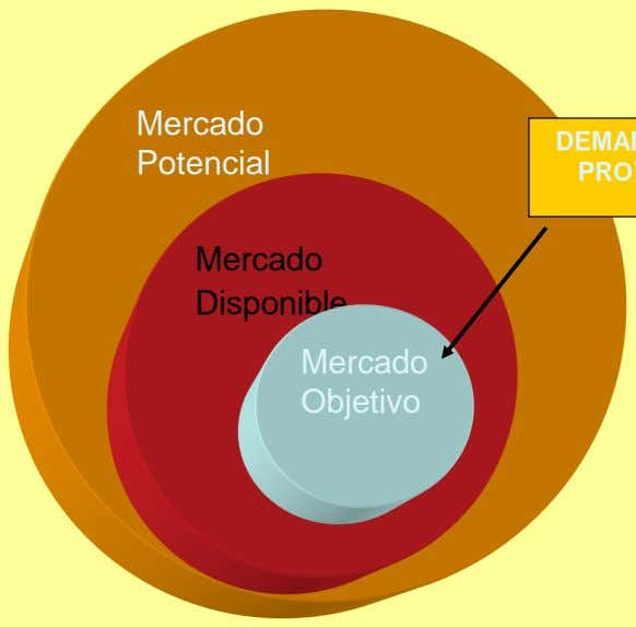 Mercado Potencial Mercado Disponible Mercado Objetivo