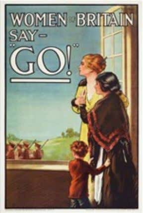Sources May 1915 poster by E. J. Kealey, from 1917 poster by Henry George Gawthorn advertising