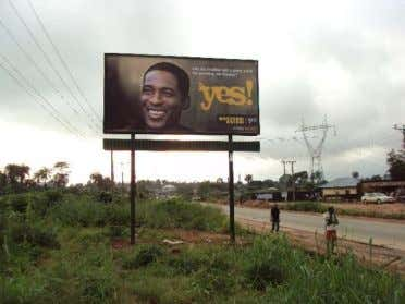Fig. 2.6: 48 sheet billboard with a campaign message Fig. 2.7: A Portrait billboard (Source: