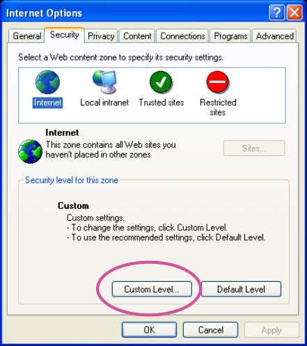 > Internet Options > Security > Custom Level. 2. Look for Download signed ActiveX ® controls;