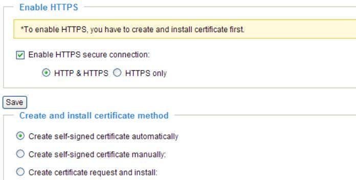 in the second column before clicking the Save button. Create and Install Certificate Method Before using