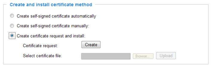 Click Create to open the Create Certificate page, then click Save to generate the certificate. User's