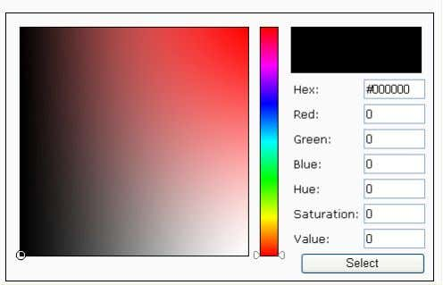 Selector 3. The palette window will pop up as shown below. 2 3 1 4 4.
