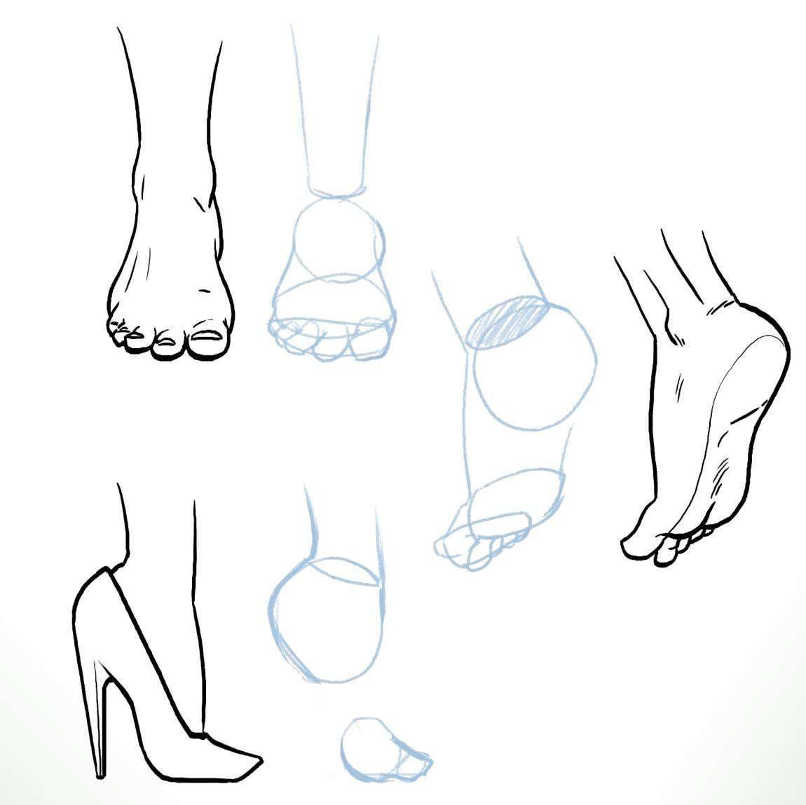 Exercise 10: Reproduce the details of the feet on the provided construction work 11