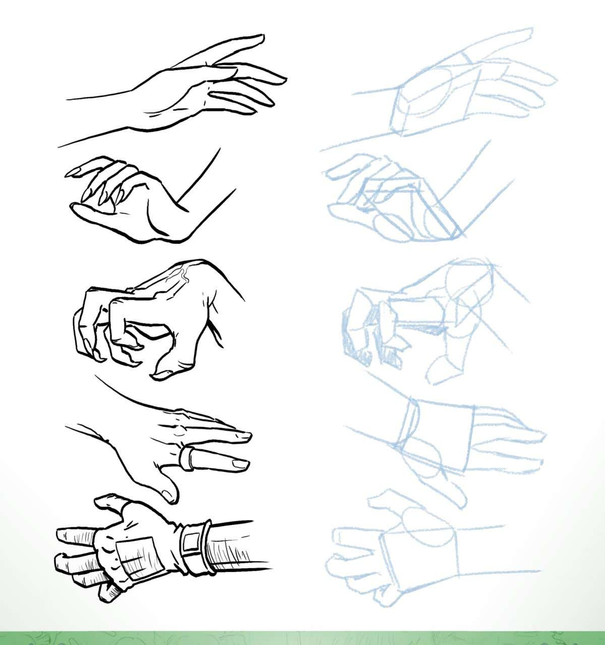 Exercise 9: Reproduce the details of the hands on the provided construction work 10