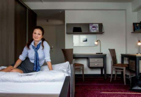 at home. Double standard rooms are included in the fees, deluxe and superior rooms are available