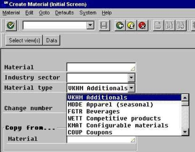 screen. You need to specify the Material Type manually. Get more SAP Material Mana g ement