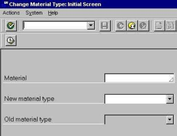 Use transaction MMAM to change the material type :- Since the material type influences the way