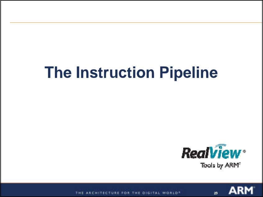 The Instruction Pipeline 232323