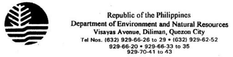 Page 1 of 43 Consultation draft December 21, 2004 DENR Administrative Order Series of 2004 SUBJECT: