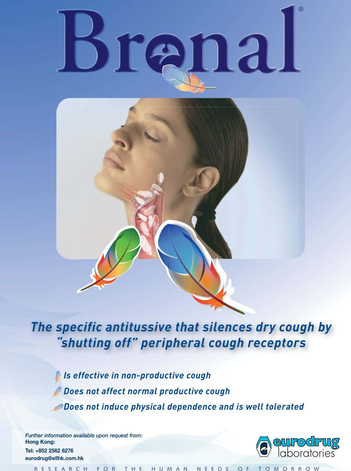 "The specific antitussive that silences dry cough by ""shutting off"" peripheral cough receptors Is effective"