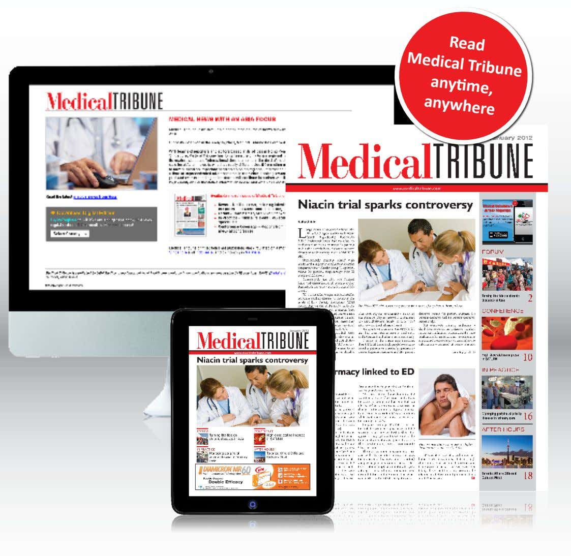 Read Medical Tribune anytime, anywhere