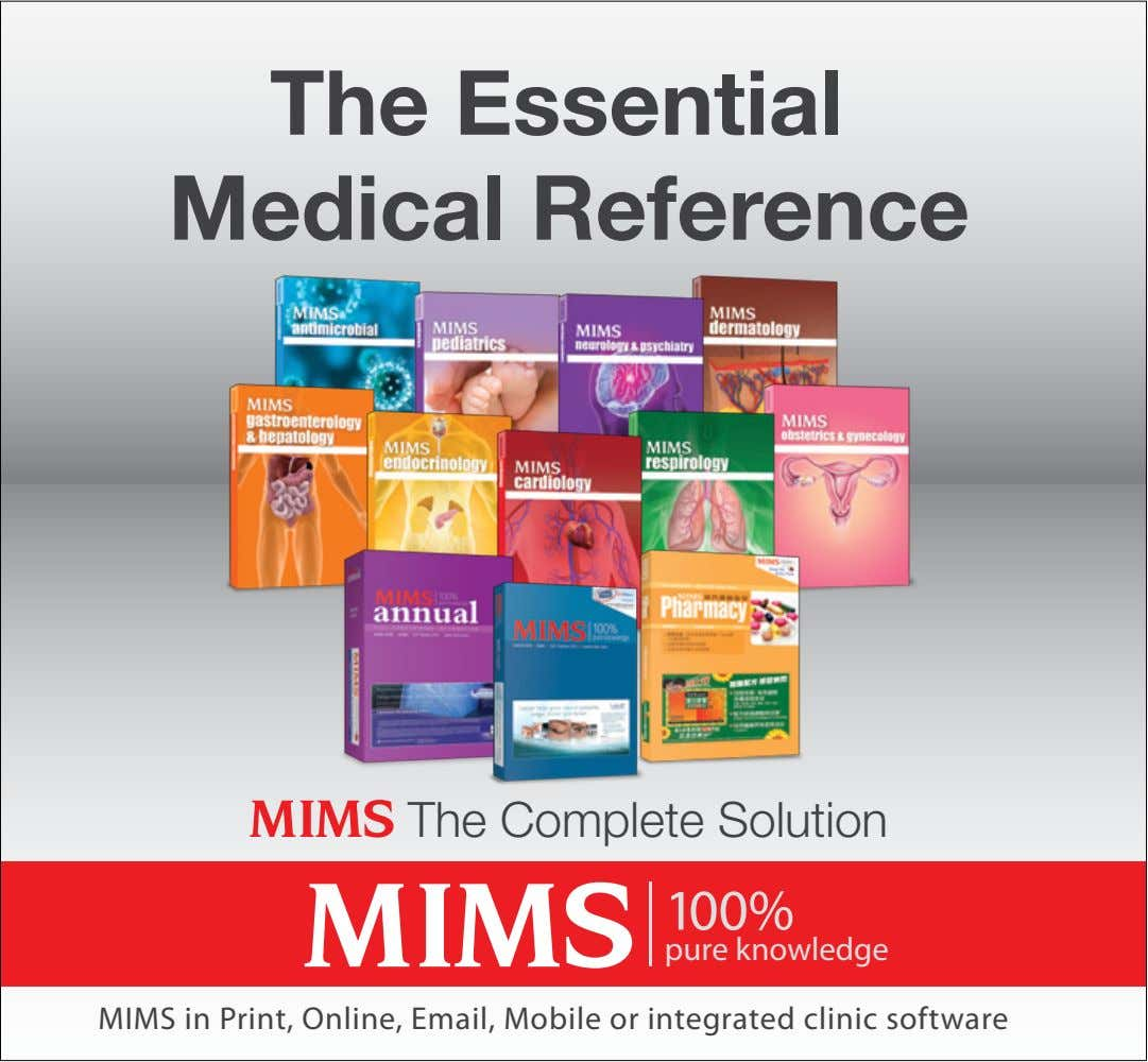The Essential Medical Reference The Complete Solution 100% pure knowledge MIMS in Print, Online, Email,