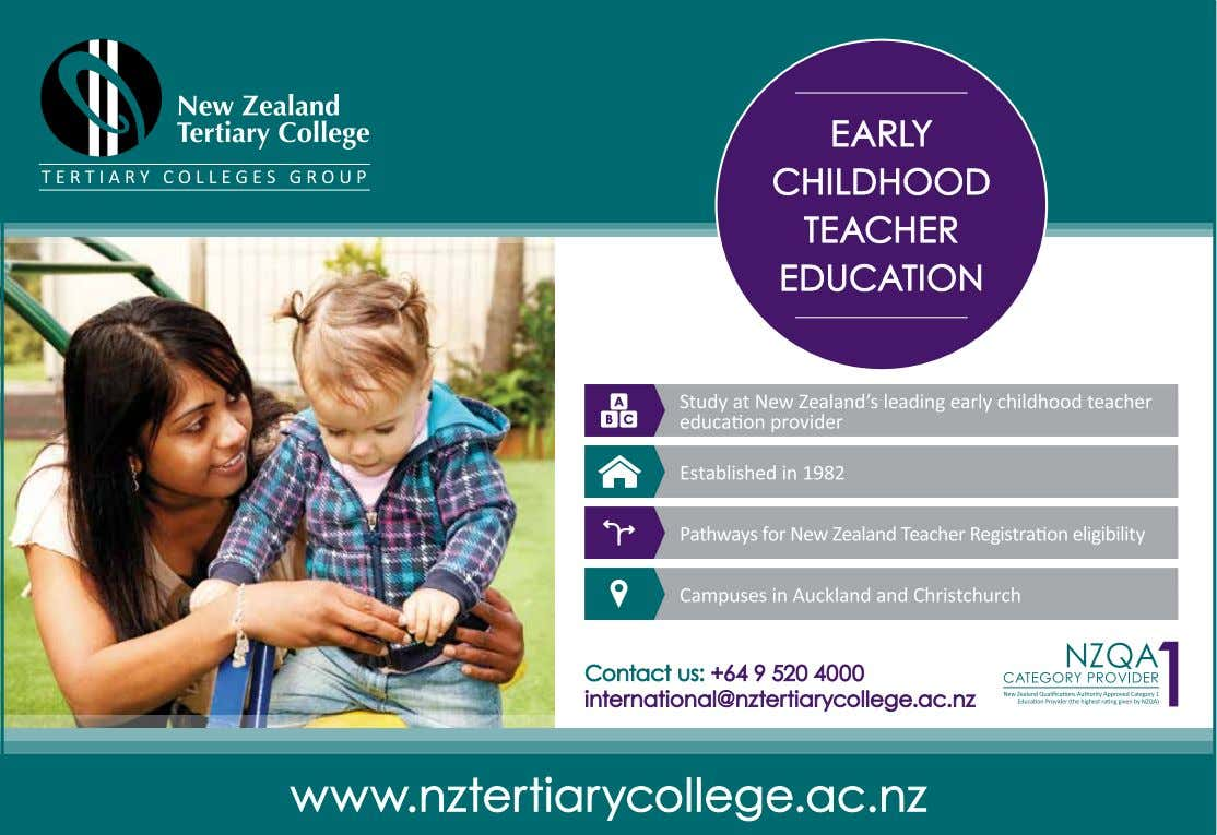 a year to the New Zealand economy, and making a clear commitment to students' learning experience