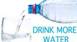 bring down the chances of weight gain. Drink plenty of water S ince forever, drinking water