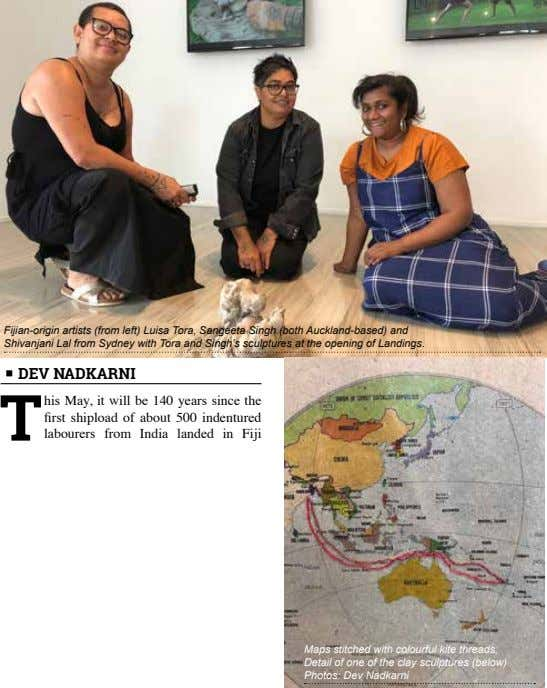 Fijian-origin artists (from left) Luisa Tora, Sangeeta Singh (both Auckland-based) and Shivanjani Lal from Sydney