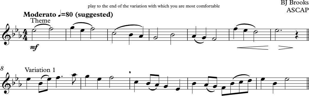BJ Brooks play to the end of the variation with which you are most comfortable
