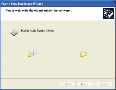 "13. Click ""Finish"" after the driver has been successfully installed. The audio interface is now"