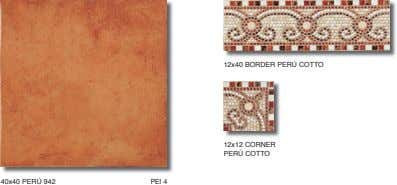 12x40 BORDER PERÚ COTTO 12x12 CORNER PERÚ COTTO 40x40 PERÚ 942 PEI 4