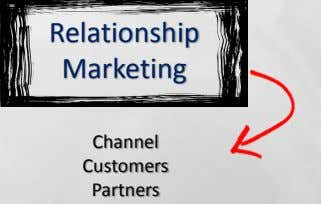 Relationship Marketing Channel Customers Partners