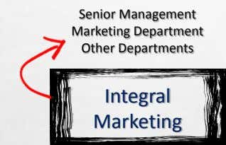 Senior Management Marketing Department Other Departments Integral Marketing