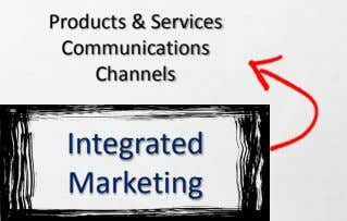 Products & Services Communications Channels Integrated Marketing