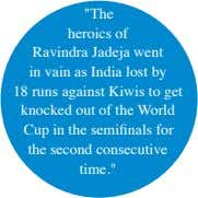"""The heroics of Ravindra Jadeja went in vain as India lost by 18 runs against"