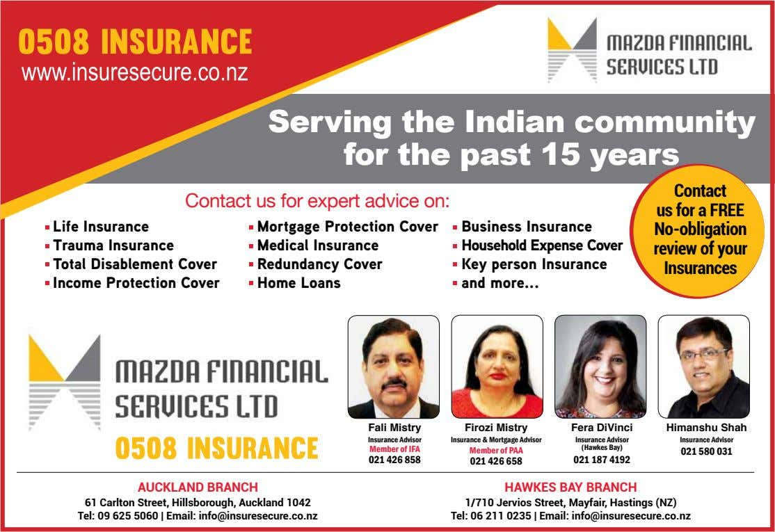 Serving the Indian community for the past 15 years Contact us for expert advice on: