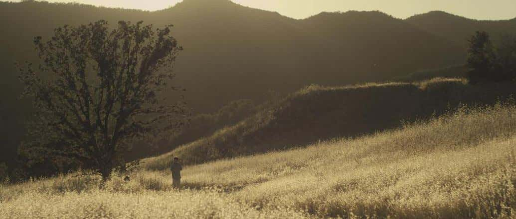 Top: The production cast Malibu Creek State Park in California to stand in for rural