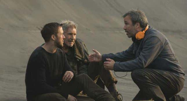 Luv. Below: Villeneuve works with Gosling and Ford. Amber, and one that combined Lee 790 Moroccan