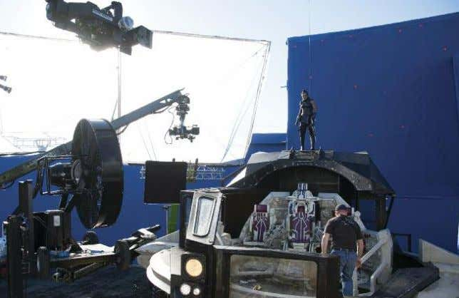 atop her character's ship to survey the action on Sakaar. other as he moves, so you