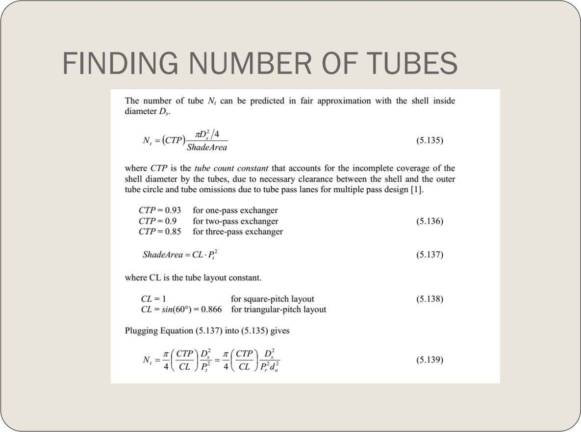 FINDING NUMBER OF TUBES
