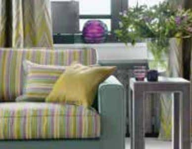 T he change from functional contract material to decorative furnishing fabric was made possible by
