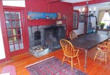 """Pine Hill Farm."" Circa 1850 Center Hall Colonial. Rumford fireplace, plank floors, custom kitchen w/beautiful"