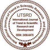 International Journal of Trend in Scientific Research and Development (IJTSRD) International Open Access Journal ISSN