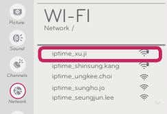 WI-FI Picture Network / Sound iptime_xu.ji iptime_shinsung.kang Channels iptime_ungkee.choi iptime_sungho.jo