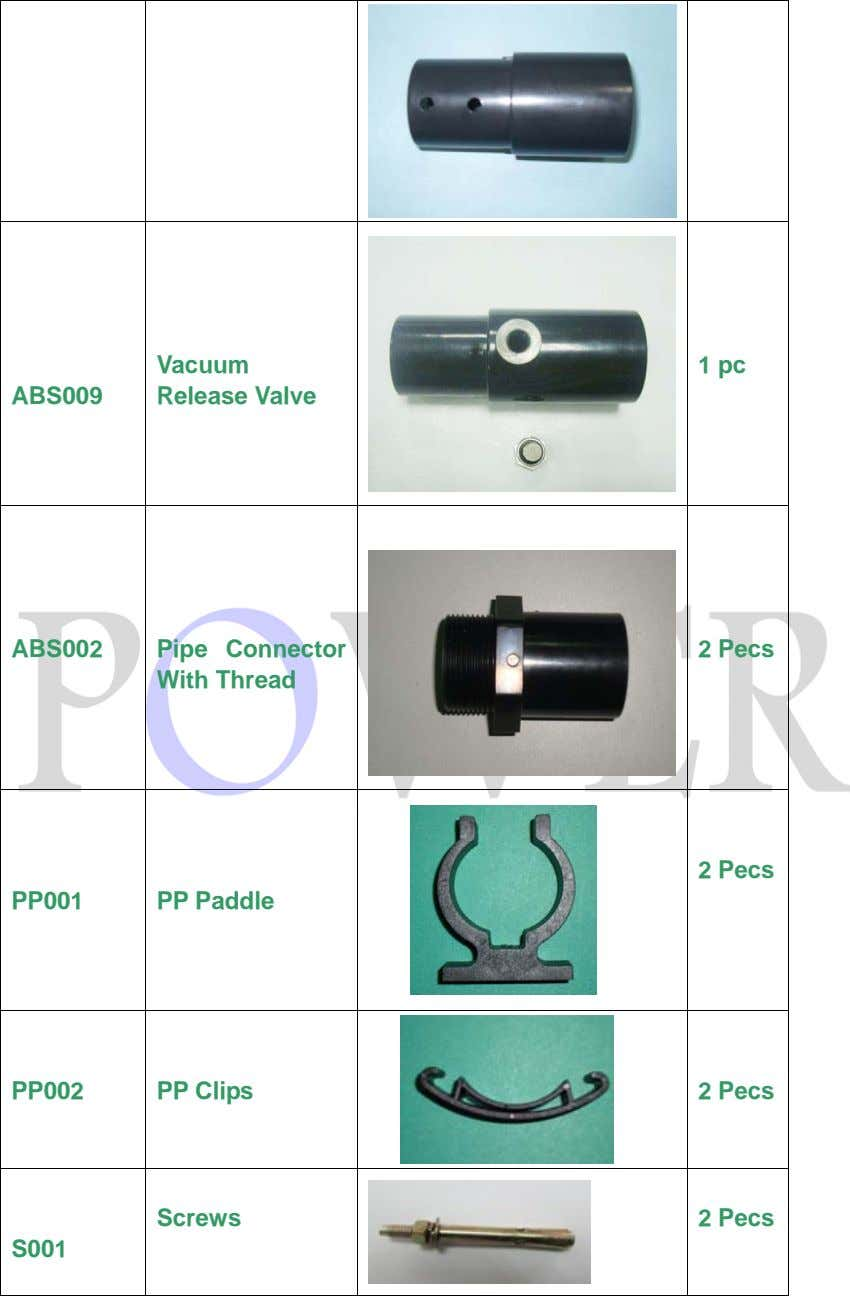 Vacuum 1 pc ABS009 Release Valve ABS002 Pipe Connector 2 Pecs With Thread 2 Pecs