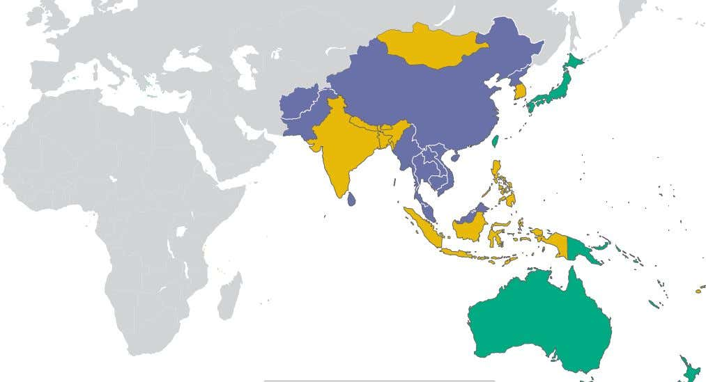asia-PaCiFiC: status By PoPuLation Not Partly Free 1,897,170,460 Free 47% 1,903,336,027 48% Free