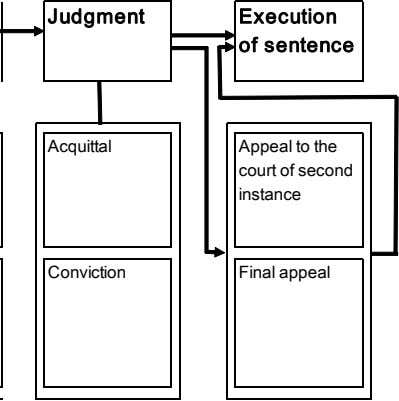 Judgment Execution of sentence Acquittal Appeal to the court of second instance Conviction Final appeal
