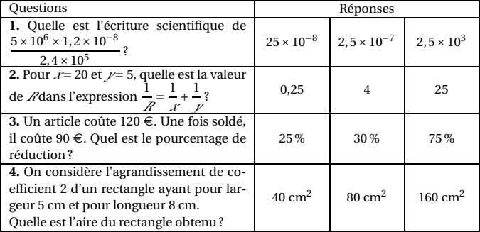 Questions 1. Quelle est l'écriture scientifique de 5 × 10 6 × 1,2 × 10