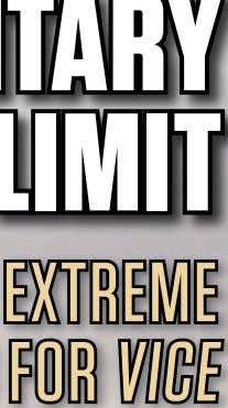 D Documentary Limit Pro uction to the Shooting in ExtrEmE ConditionS for ViCE pro meDia