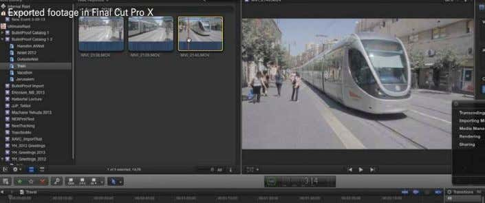 Exported footage in Final Cut Pro X
