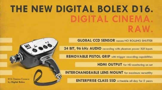 the Digital Bolex D16 camera at the 2013 SXSW Film Festival in March. Since then I've