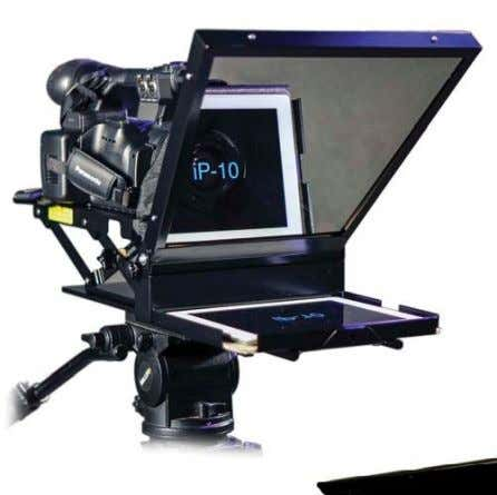 Mirror Image IP10 iPad teleprompter kit Listec's PW-10EBTeleprompter includes an adjustable camera mount Autocue