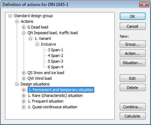 from the database or the settings in the analysis menu. Action Open the dialog for entering