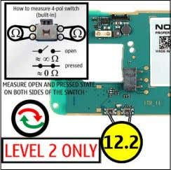 (2) 10.1 EARPIECE (2) 11.1 LEDs (3) 12.1 VOLUME KEY (2) Service Manual N73-1 RM-133 /