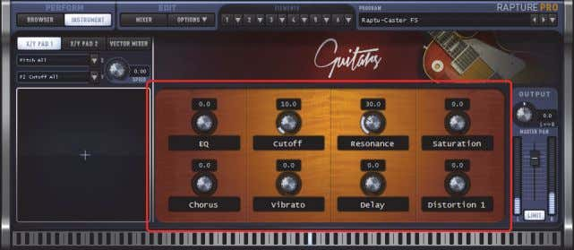 macro controls Figure 10. Performance macro controls. The 8 assignable Macro Control knobs allow you to